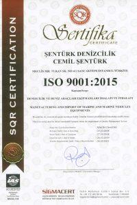 sealuxmarine.com iso 9001 TOEM Danışmanlıktan alınan sertifika